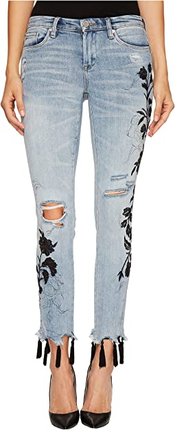 Blank NYC - Floral Crop Skinny Classique in Shadow Bloom