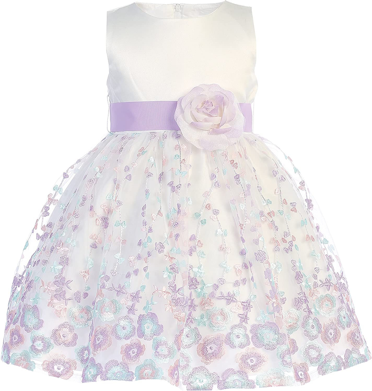 Lito Childrens Wear Girls Easter Dress - Spring Dress - Wedding Party Dress - Flower Girl Dress