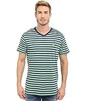 U.S. POLO ASSN. - Candy Striped V-Neck T-Shirt