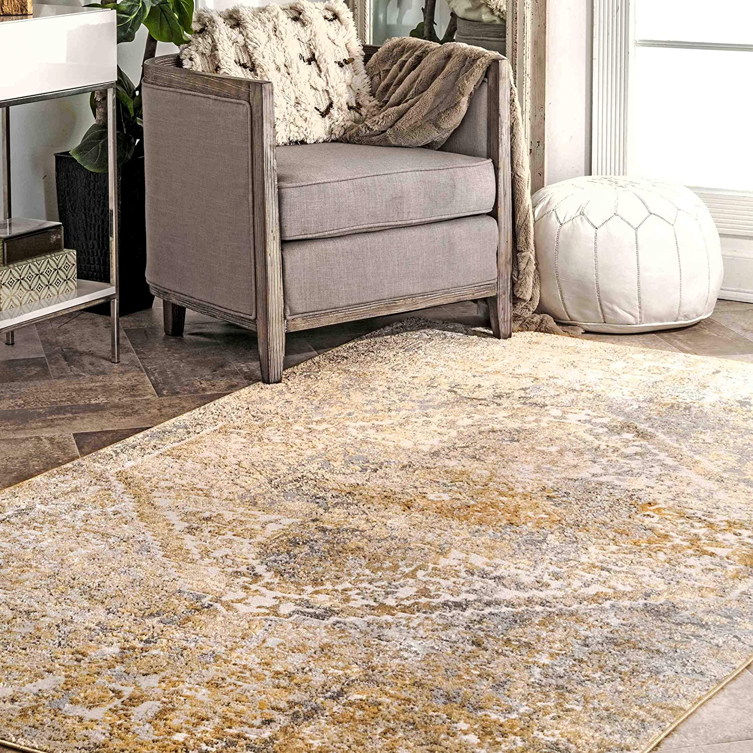 nuLOOM Patty Vintage Medallion Special price Area Gold 5' x 8' Super sale period limited Rug