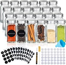 Deco Haus Set van 24 Kruidenpotjes met Schroefdeksel, Kruidenkit met Labels, Trechter, Schoonmaakborstel, Stift, Passen in...
