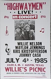 Highwaymen Live in Concert in Austin, TX Poster