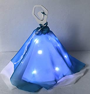 Punto luce Ballerina luminosa azzurra