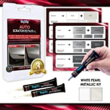 MagicEzy Auto Scratch Repairezy: Repair Car Paint Chips in Seconds - Precise Color Match - Touch-Up Filler – No Messy Drips (White Pearl Kit (White Pearl and Ivory White))