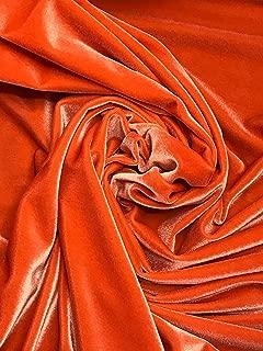 Stretch Velvet by The Yard (Orange)