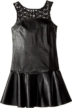 Jacey Faux Leather Dress (Big Kids)