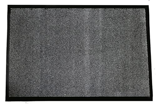 Durable Corporation 654S34CH Wipe-N-Walk Vinyl Backed Indoor Carpet Entrance Mat, 3' x 4', Charcoal