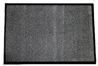 Durable Wipe-N-Walk Vinyl Backed Indoor Carpet Entrance Mat, 4' x 8', Charcoal