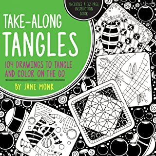 Take-Along Tangles: 104 Drawings to Tangle and Color on the Go (Tangled Color and Draw)