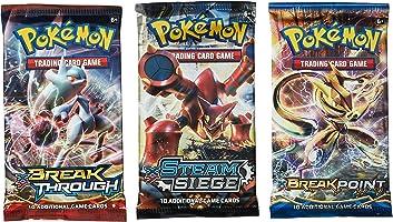 Pokemon TCG: 3 Booster Packs 30 Cards Total  Value Pack, 3 Blister Packs of Random Cards   Branded Pokemon Expansion Packs