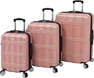 London Fog Kingsbury 3 Piece Spinner Luggage Set, Rose Gold