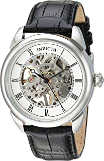Invicta Specialty Men's Silver Dial Leather Band Watch - 23533