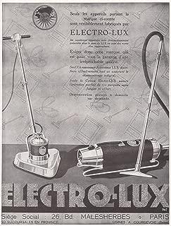 1929 Ad Print Floor Polisher Vacuum Cleaner Electro-Lux Aspirateur Cireuse
