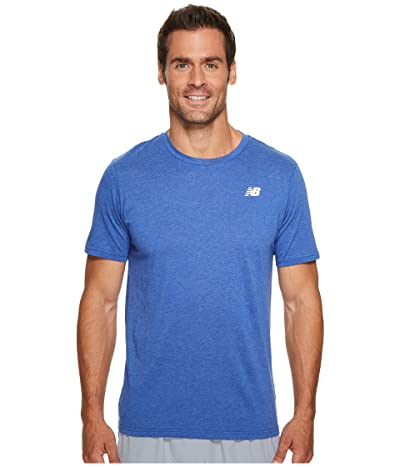 New Balance Heather Tech Short Sleeve (Team Royal) Men