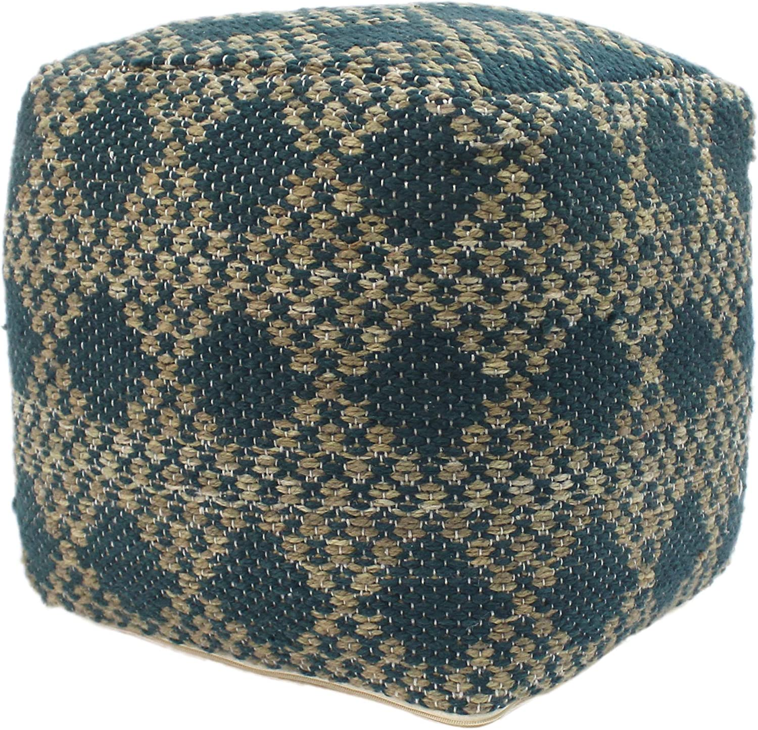 Christopher Knight famous Home Mamie Cube Pouf Teal Boho and Beige Ya Dealing full price reduction