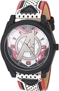 ساعة مارفل للرجال كوارتز مع شريط مطاطي، متعدد الألوان - 13 موديل AVX5010AZ)