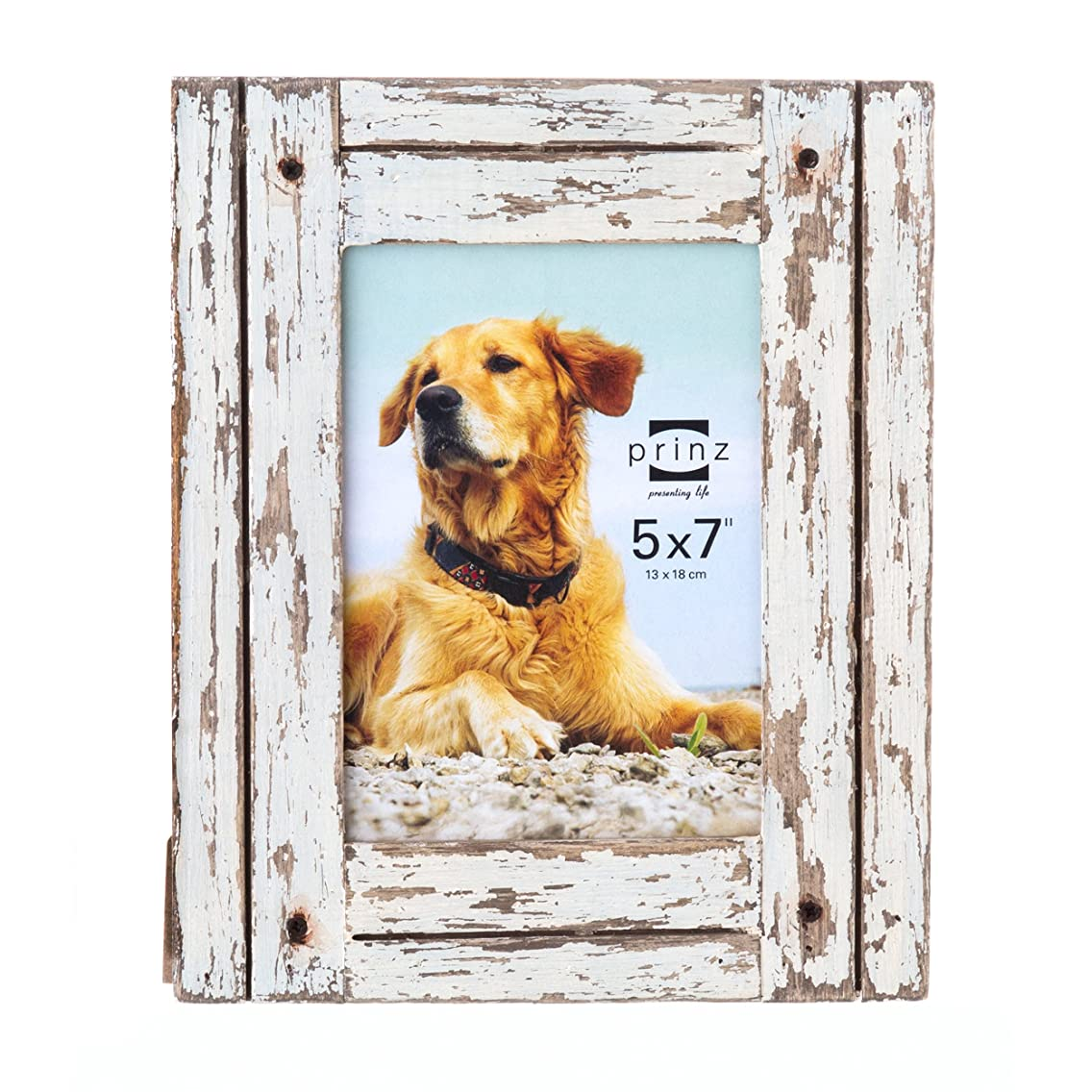 PRINZ 3710-0157 Picture Frame, 5 x 7, Distressed White
