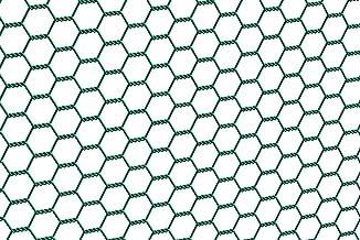 GAH-Alberts 614225 zeshoekig gaas, verschillende lengtes en hoogtes - naar keuze in verschillende kleuren, groen, mazen 25...