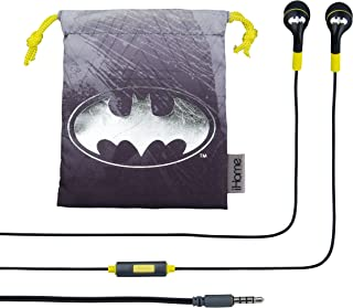 Batman Noise Isolating Earbuds with Built in Microphone and Pouch