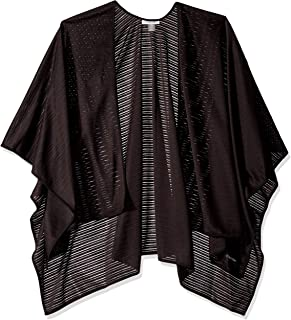 Calvin Klein Women's Evening Jersey Shawl Wrap, black, One Size