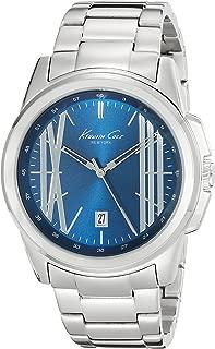 Kenneth Cole New York Men's Kc9386 Analog Display Quartz Silver-Tone Watch