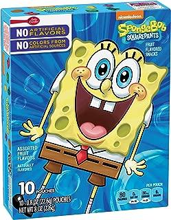 Betty Crocker SpongeBob Fruit Flavored Snacks Assorted Flavors 10 - 0.8 oz Pouches