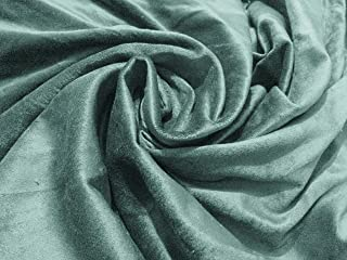 100% Cotton Velvet Fabric for Upholstery, Drapery Velvet (All Purpose use)-56 Inches Wide-Medium to Light Weight-Price per Yard- Express Shipping (Aqua)