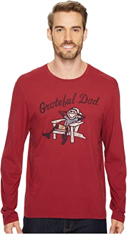 Life is Good - Grateful Dad Adirondack Long Sleeve Smooth Tee