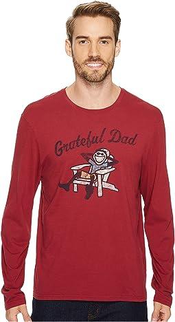 Life is Good - Grateful Dad Adirondack Long Sleeve Smooth Tee