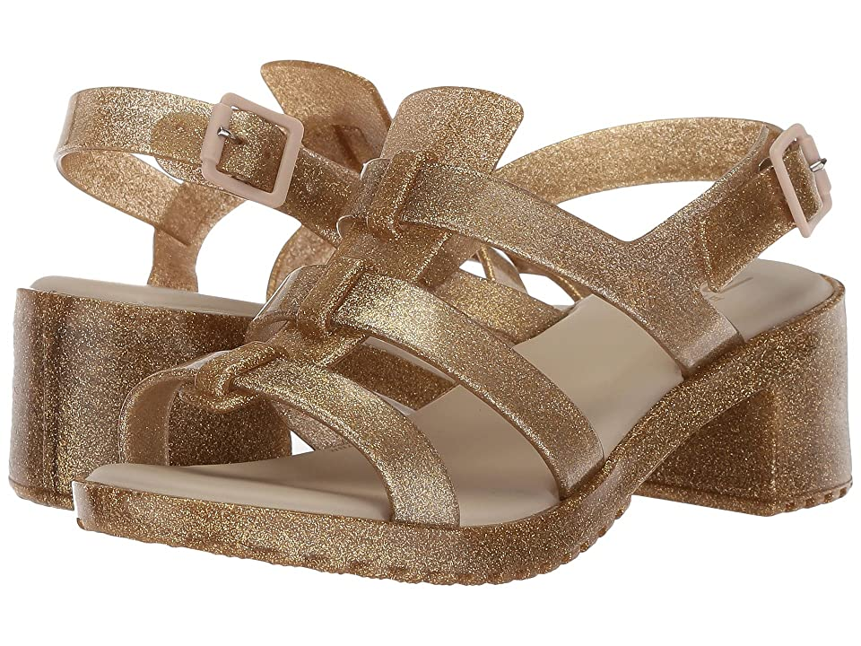 Mini Melissa Mel Flox High (Little Kid/Big Kid) (Gold Glitter) Girls Shoes