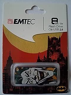 Emtec USB Slider Flash Drive, 8GB, Batman