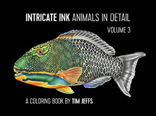 Intricate Ink: Animals in Detail Volume 3: A Coloring Book