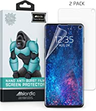 [2-Pack] Nordic Nano Film (Case Friendly) Screen Protector for Galaxy S10 6.1 Anti Bubble HD Clear Film (NOT Compatible with Verizon Samsung S10 5G 6.7
