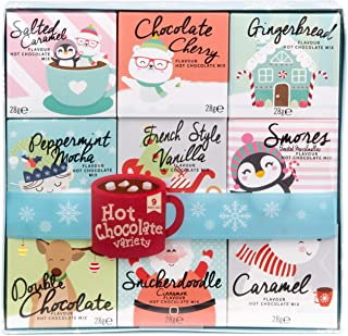 Modern Gourmet Foods, Hot Chocolate Variety Gift Set, Includes 9 Delicious Hot Chocolate Flavours Like Salted Caramel, Cho...