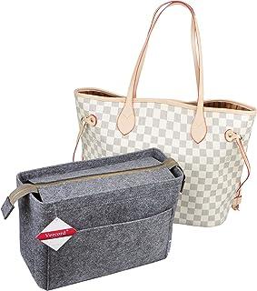 Vercord Large Felt Zipper Handbag Tote Purse Duffel Backpack Organizer Insert 2 Size