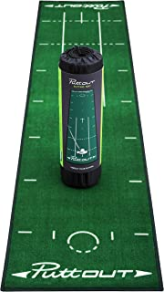 PuttOut Pro Golf Putting Mat – Perfect Your Putting (7.87-feet x 1.64-feet)