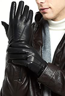 Leather Gloves for Men - Deluxe Sheep and Deer Skin Leather Men's Gloves Lined Driving or Daily Wears