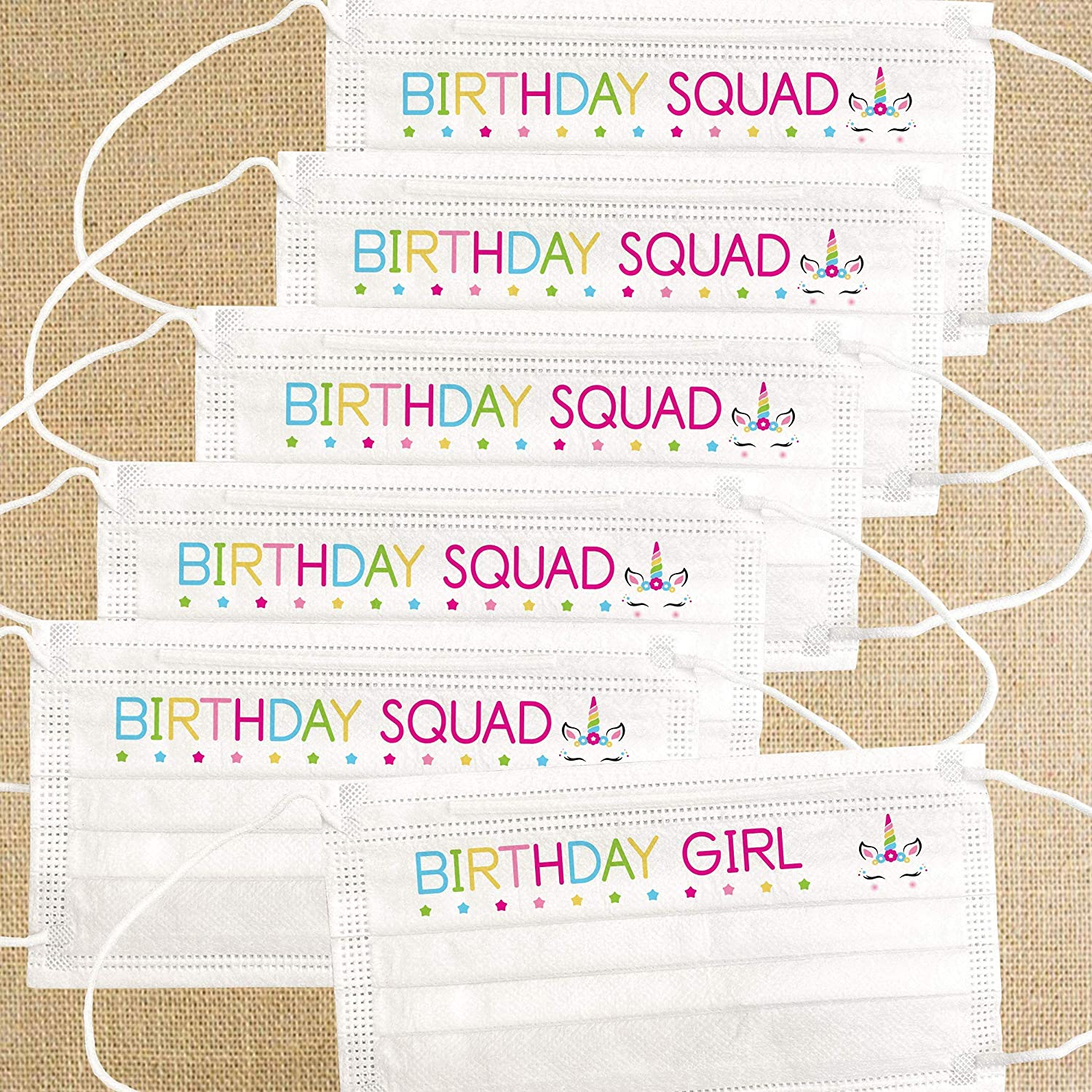 Girls Birthday Face Masks - Houston Mall National uniform free shipping Disposable Mask Pack Squad