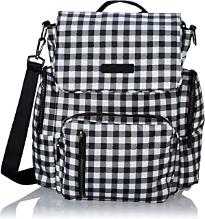 JuJuBe Be Sporty Backpack/Diaper Bag, Onyx Collection - Gingham Style