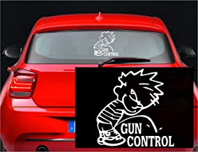 NRA Calvin Piss Pee on Socialist Gun Control Vinyl Decal Sticker for Window Car Laptop (5.5
