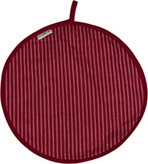 Sterck Cotton Round Striped Cook Aga Pad in Red RNDPADDRRED