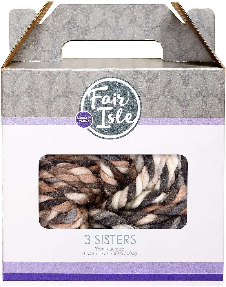Fair Isle 101912-4079 Yarn 3 Sisters-Grizzly Multi