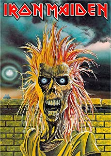 Iron Maiden Textile Flag Eddie Band Logo Official Black Poster 65Cm X 105Cm