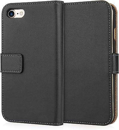 Caseflex iPhone 7 Case, iPhone 8 Case, [Black] iPhone 7 & 8 Leather Case [Cash and Card Slots] – Premium Genuine Leather Wallet Cover for iPhone 7 (2016) iPhone 8 (2017)