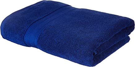 Amazon Brand - Solimo 100% Cotton Bath Towel, 575 GSM (Navy Blue)
