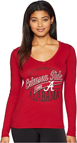 Alabama Crimson Tide Long Sleeve V-Neck Tee