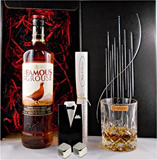Geschenk Famous Grouse Scotch Whisky  Whiskey Glas  2 Kühlsteine