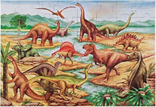 Melissa & Doug Dinosaurs Floor Puzzle (Extra-Thick Cardboard Construction, Beautiful Original Artwork, 48 Pieces, 2' x 3, Great Gift for Girls and Boys - Best for 3, 4, 5, and 6 Year Olds')