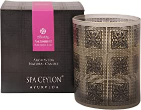 Spa Ceylon Luxury Ayurveda Pink Grapefruit Aroma Blend Natural Candle - (3 Inch x 3.5 Inch x 3.2 Inch )