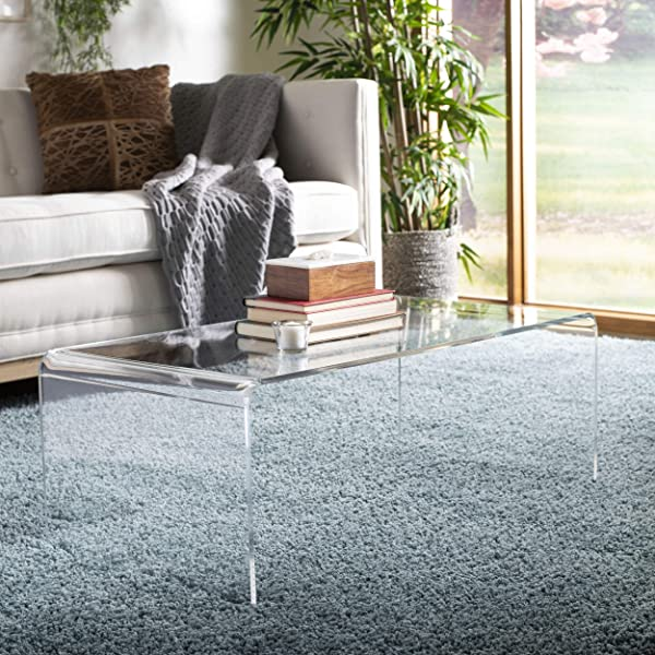 Safavieh FOX6015A Home Collection Atka Coffee Table Clear